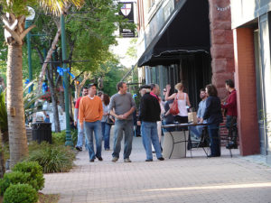 first, friday, downtown, valdosta, main, street
